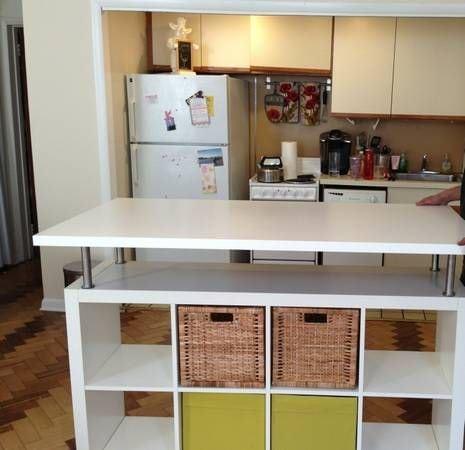 Isola Cucina Fai Da Te.25 Idee Su Come Creare Una Penisola In Cucina Con Mobili Economici Ikea